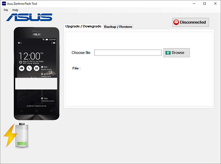 Asus Flash Tool v 1 0 0 45 download for Windows 32/64 bit